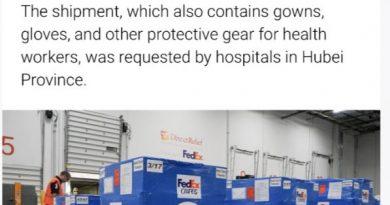 """美国国际直接援助组织捐赠口罩30万只: """"能够给予支持是一种荣幸"""""""